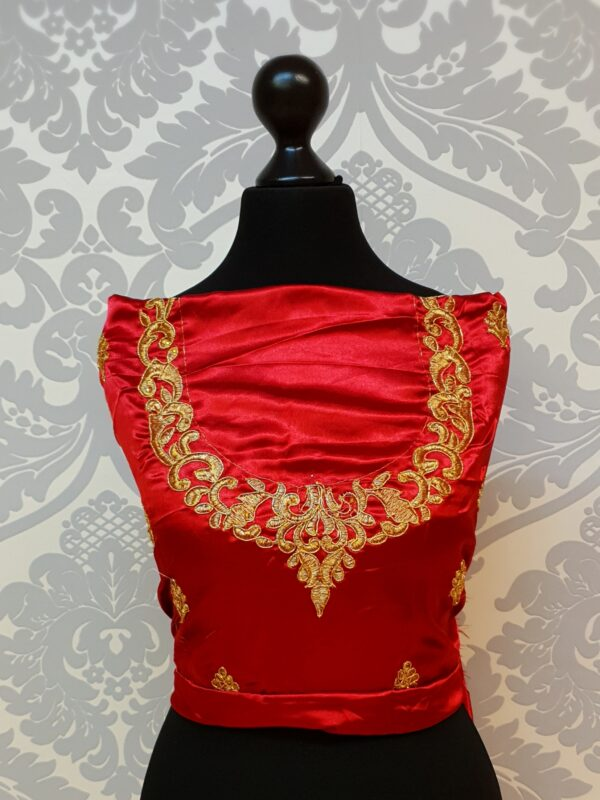 Red lehenga blouse
