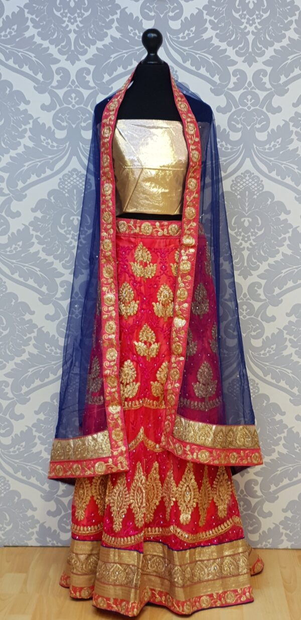 Pink lehenga with embroidery