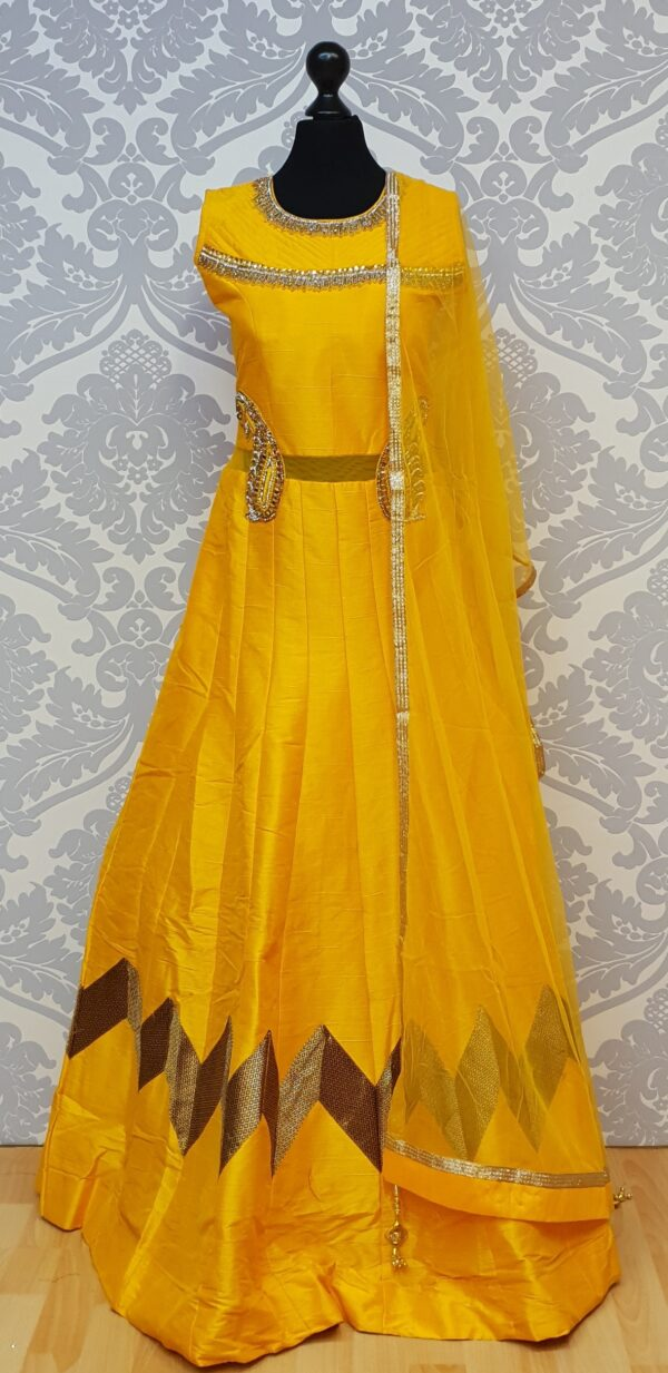 Awesome salwar with stone work