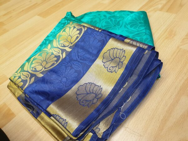 Double coloured silk saree