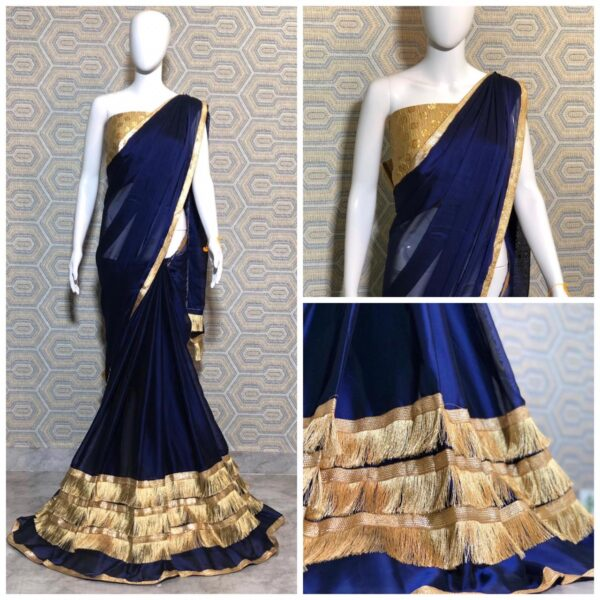 Heavy rangoli silk saree