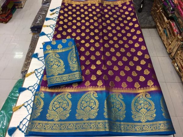 100% pure moonga silk saree