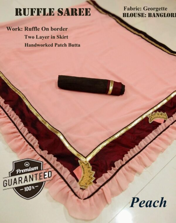 Georgette saree with ruffle