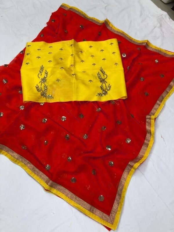 Georgette saree with work