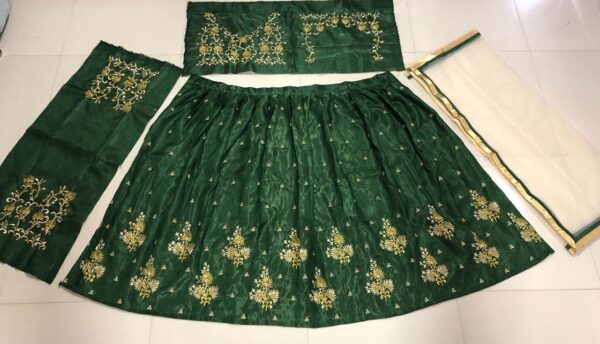 Green lehenga with embroidery