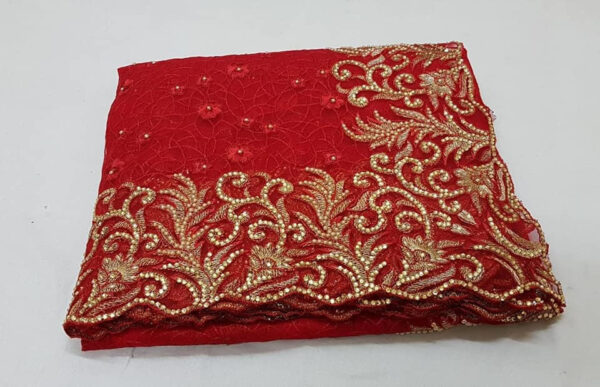 Net saree with embroidery