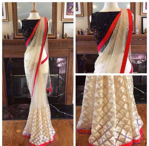 Nylon net saree