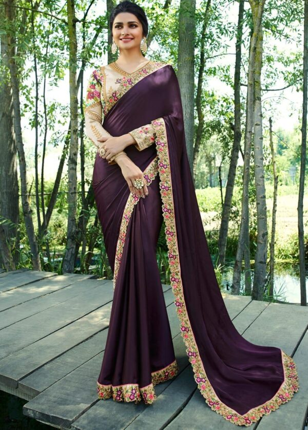 Rangoli silk saree with work