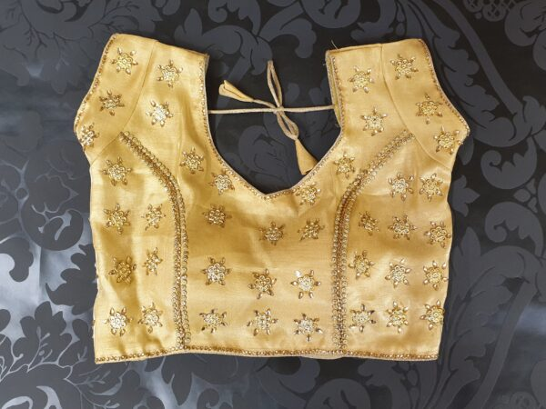Saree blouse with stone work