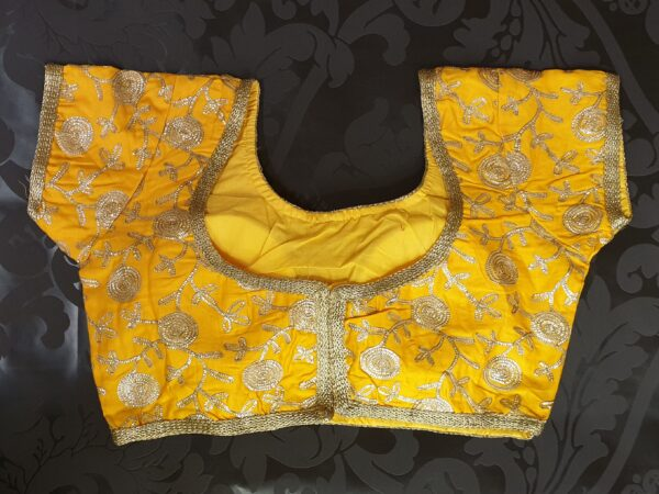 Sunny saree blouse with embroidery