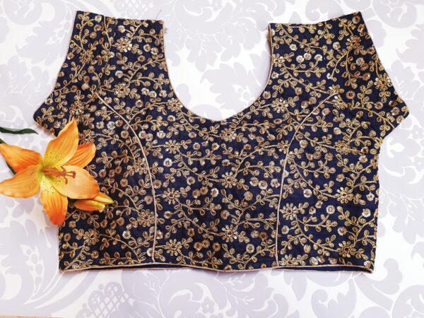 Heavy embroidered saree blouse