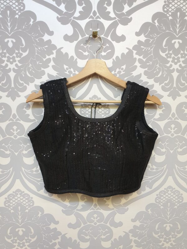 Blouse with heavy sequin