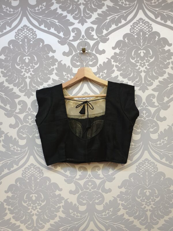 Beautiful blouse with net neck