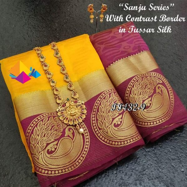 Beautiful tussar silk saree