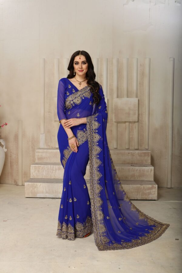 Lovely embroidered saree