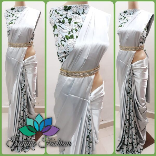 Designer saree with desginer blouse